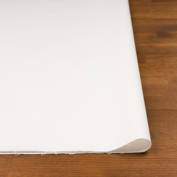 コットン&ポリウレタン×無地(ホワイト)×サテンストレッチ イメージ3