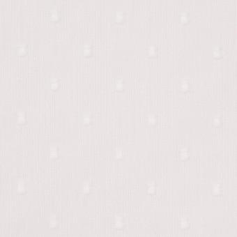 コットン×ドット(ホワイト)×ボイルカットジャガード_全6色