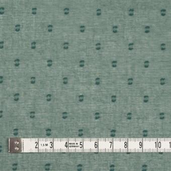 コットン×ドット(セージグリーン)×ボイルカットジャガード_全6色 サムネイル4