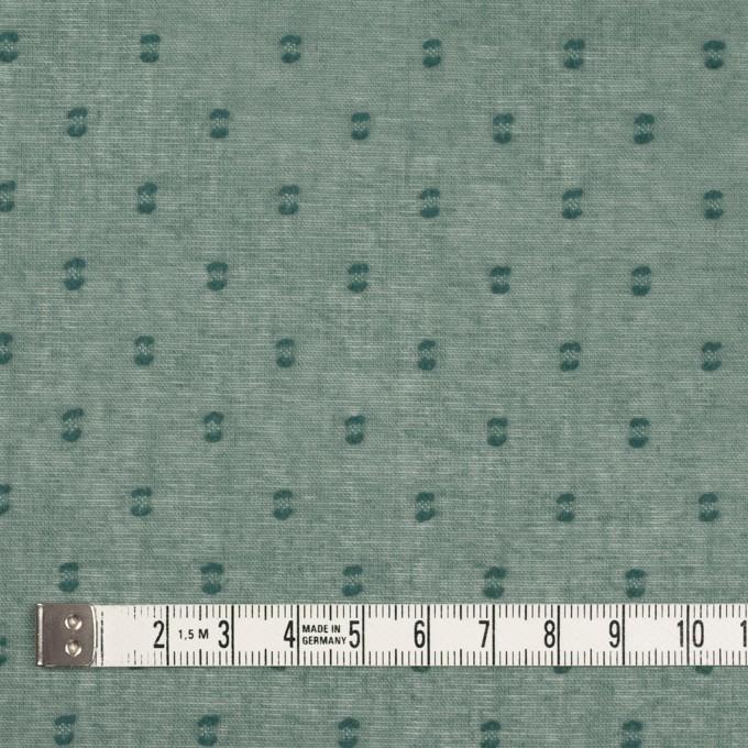 コットン×ドット(セージグリーン)×ボイルカットジャガード_全6色 イメージ4