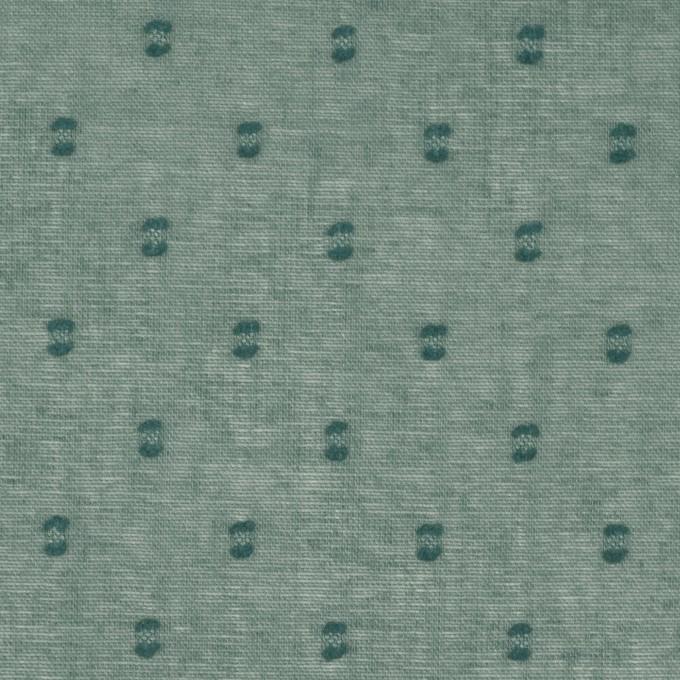 コットン×ドット(セージグリーン)×ボイルカットジャガード_全6色 イメージ1