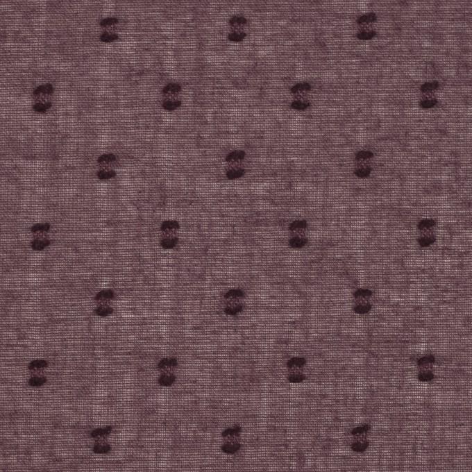 コットン×ドット(プラム)×ボイルカットジャガード_全6色 イメージ1