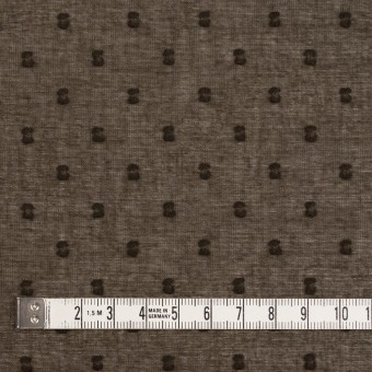 コットン×ドット(カーキブラウン)×ボイルカットジャガード_全6色 サムネイル4