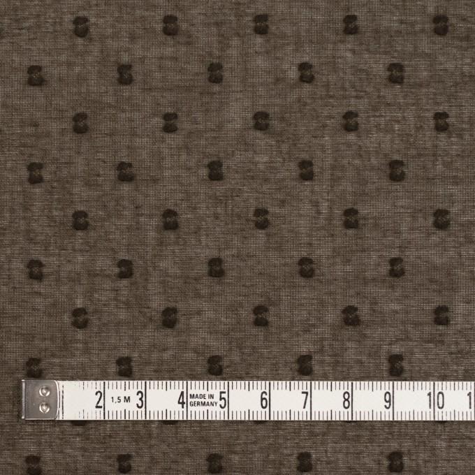 コットン×ドット(カーキブラウン)×ボイルカットジャガード_全6色 イメージ4
