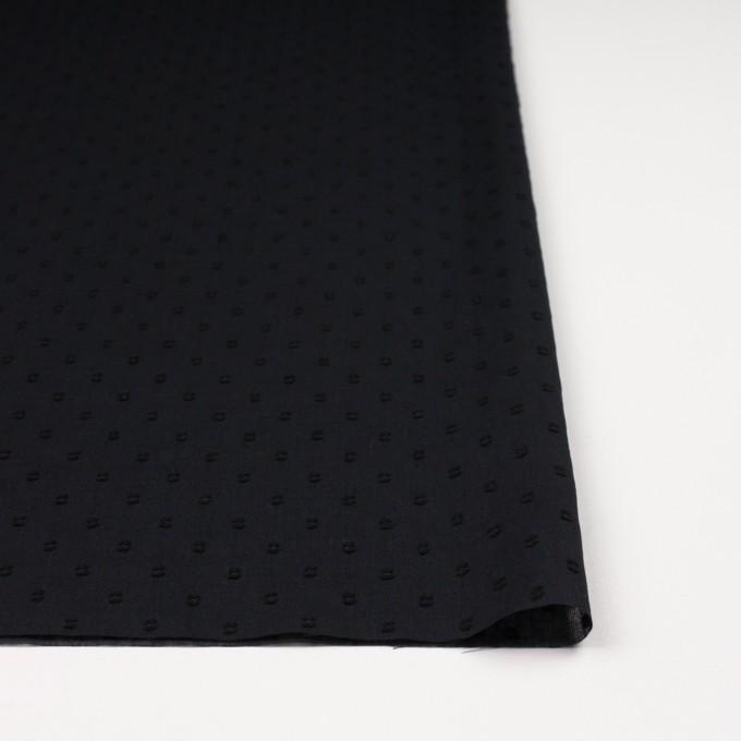 コットン×ドット(ブラック)×ボイルカットジャガード_全6色 イメージ3
