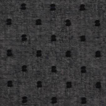 コットン×ドット(ブラック)×ボイルカットジャガード_全6色