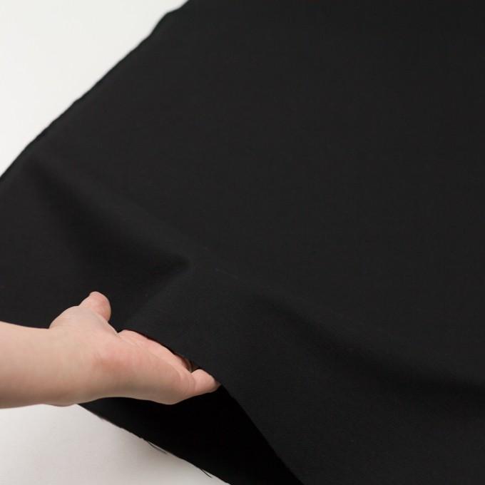 コットン×無地(ブラック)×厚オックスフォード イメージ5