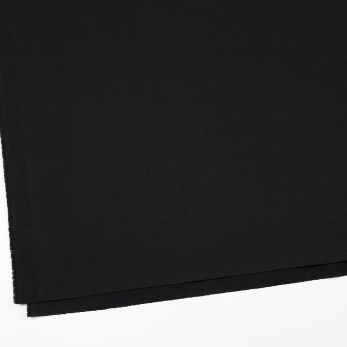 コットン&ポリウレタン×無地(ブラック)×サテンストレッチ_イタリア製 イメージ2