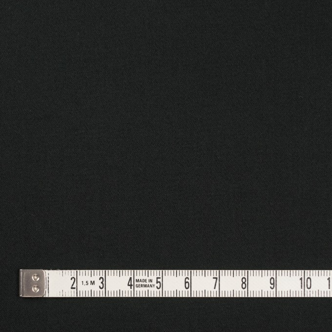 コットン&ポリウレタン×無地(ブラック)×サテンストレッチ_イタリア製 イメージ4
