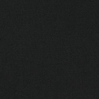 コットン&ポリウレタン×無地(ブラック)×サテンストレッチ_イタリア製