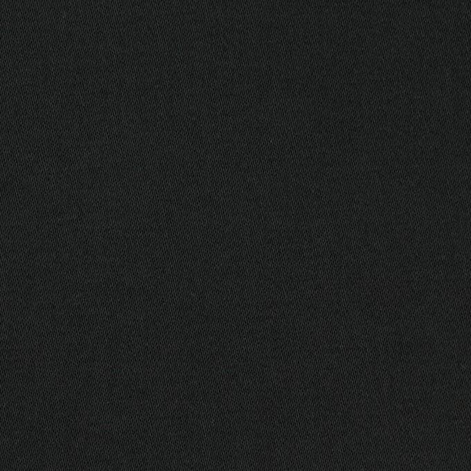 コットン&ポリウレタン×無地(ブラック)×サテンストレッチ_イタリア製 イメージ1