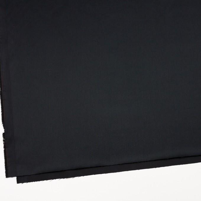 レーヨン&ポリエステル×無地(ブラック)×サテン_イタリア製 イメージ2