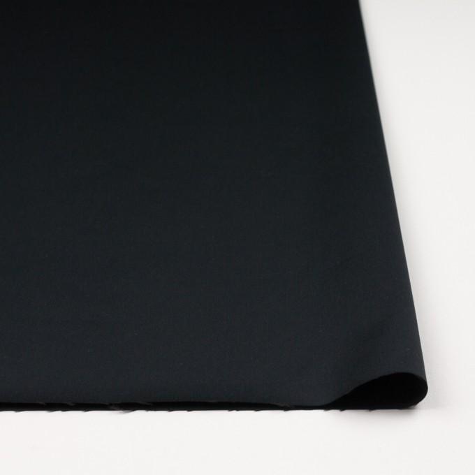 レーヨン&ポリエステル×無地(ブラック)×サテン_イタリア製 イメージ3