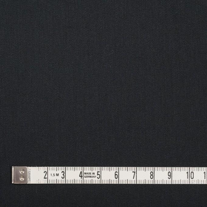 レーヨン&ポリエステル×無地(ブラック)×サテン_イタリア製 イメージ4