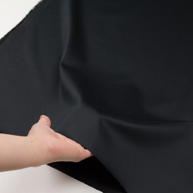 レーヨン&ポリエステル×無地(ブラック)×サテン_イタリア製 イメージ5