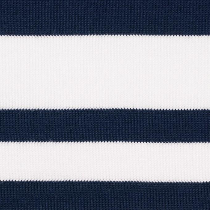 コットン×ボーダー(ホワイト&ネイビー)×天竺ニット_パネル イメージ1
