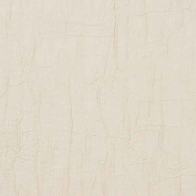 コットン×無地(アイボリー)×ボイルワッシャー_全8色 イメージ1