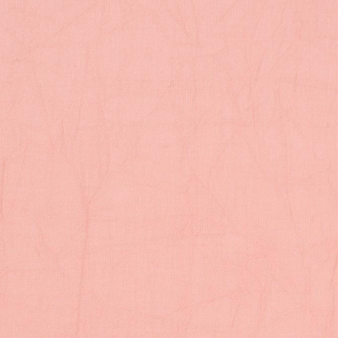 コットン×無地(ピーチ)×ボイルワッシャー_全8色 イメージ1
