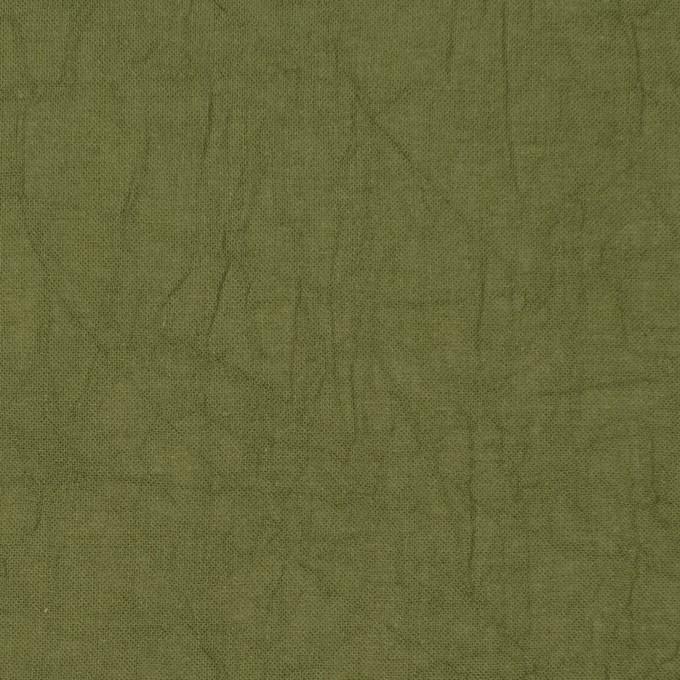 コットン×無地(カーキグリーン)×ボイルワッシャー_全8色 イメージ1