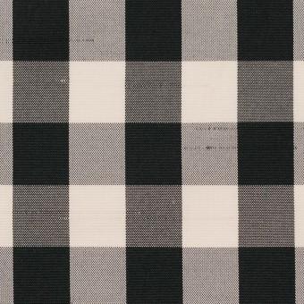 ポリエステル×チェック(キナリ&ブラック)×形状記憶シャンタン サムネイル1