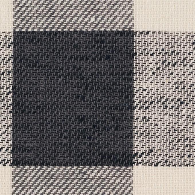 コットン×チェック(クリーム&チャコール)×サージ イメージ1