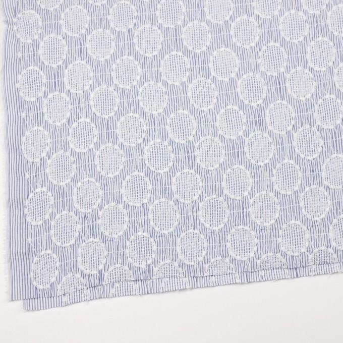 コットン×サークル(ブルー)×ローンシャーリング刺繍_全2色 イメージ2