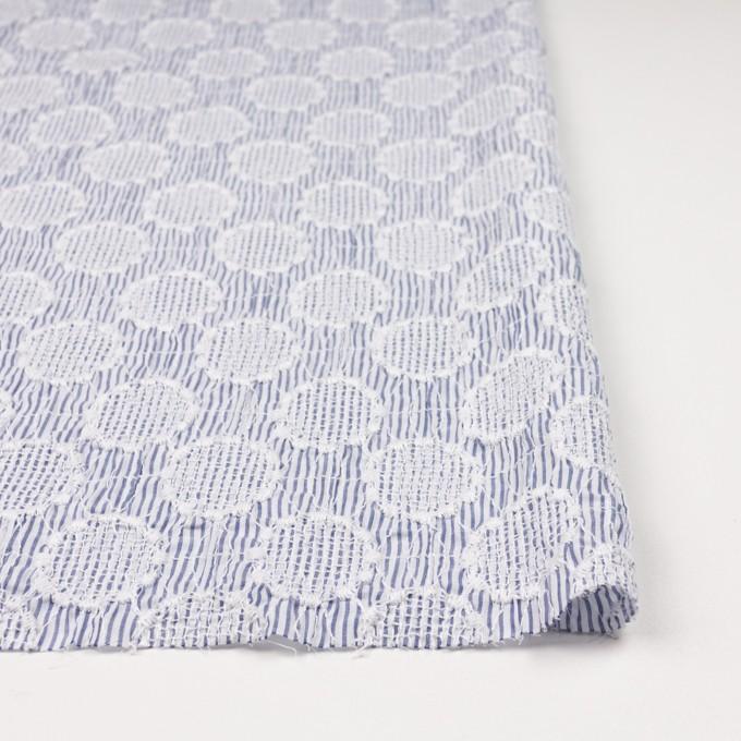 コットン×サークル(ブルー)×ローンシャーリング刺繍_全2色 イメージ3