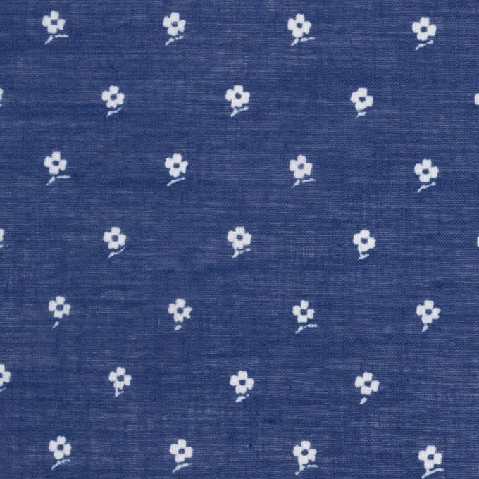 コットン×フラワー(マリンブルー)×ボイル_全2色 イメージ1