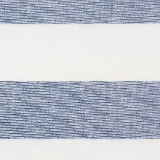 コットン×ボーダー(インディゴブルー)×シーチング イメージ1