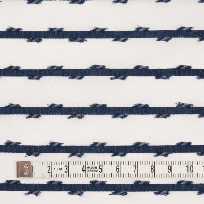 ナイロン&ポリエステル(ネイビー)×オーガンジージャガード イメージ4