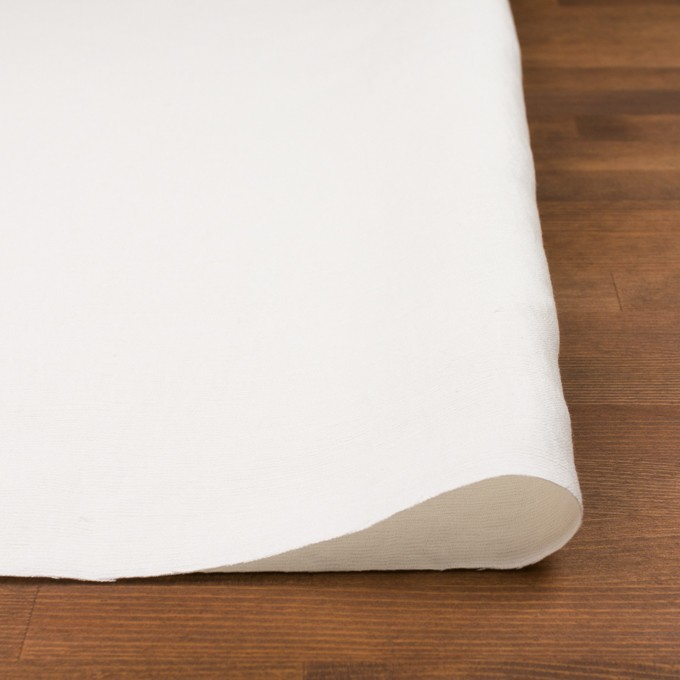 コットン&シルク×無地(オフホワイト)×かわり織_イタリア製 イメージ3