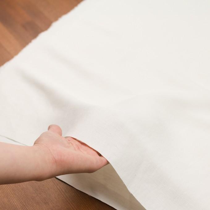 コットン&シルク×無地(オフホワイト)×かわり織_イタリア製 イメージ5