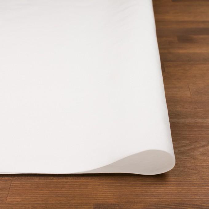 コットン&ナイロン×無地(オフホワイト)×バックサテンシャンタン_全2色_イタリア製 イメージ3