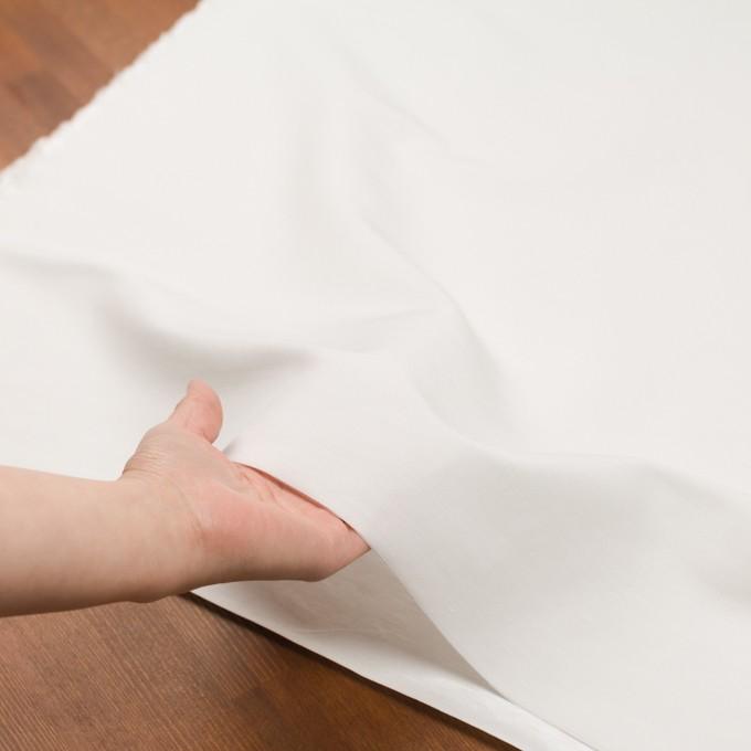 コットン&ナイロン×無地(オフホワイト)×バックサテンシャンタン_全2色_イタリア製 イメージ5