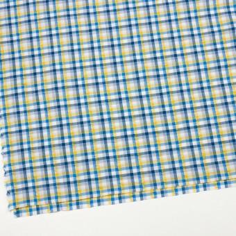 コットン×チェック(イエロー&ブルー)×サッカー_全3色 サムネイル2