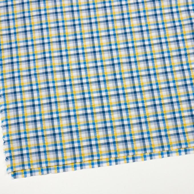 コットン×チェック(イエロー&ブルー)×サッカー_全3色 イメージ2