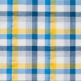 コットン×チェック(イエロー&ブルー)×サッカー_全3色 サムネイル1