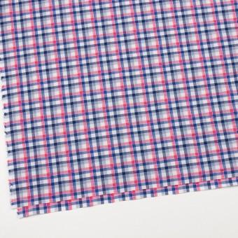 コットン×チェック(ピンク&ネイビー)×サッカー_全3色 サムネイル2