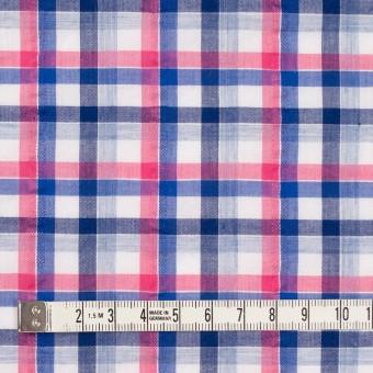 コットン×チェック(ピンク&ネイビー)×サッカー_全3色 サムネイル4