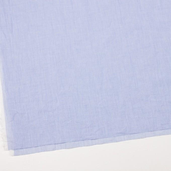コットン&リネン混×ストライプ(ブルー)×ローンワッシャー イメージ2