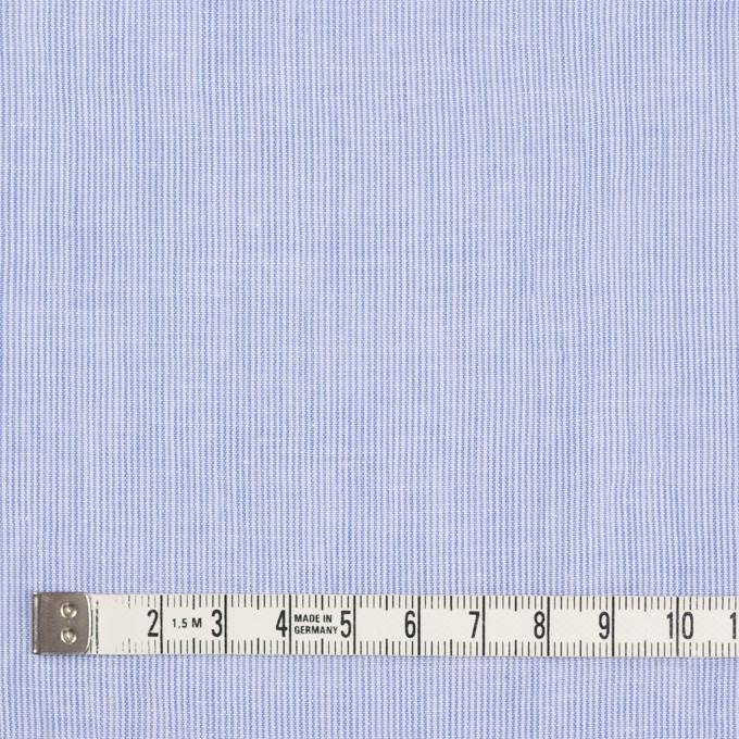 コットン&リネン混×ストライプ(ブルー)×ローンワッシャー イメージ4