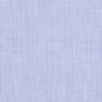 コットン&リネン混×ストライプ(ブルー)×ローンワッシャー サムネイル1