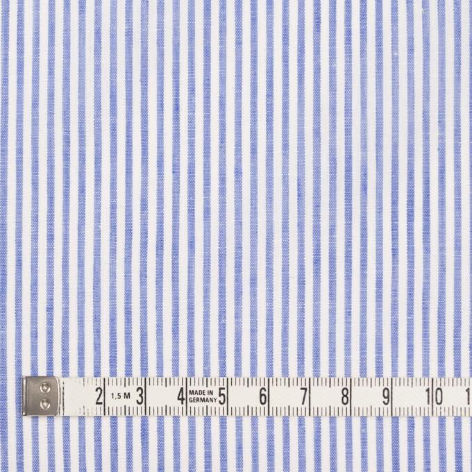 コットン&リネン×ストライプ(ブルー)×ローン イメージ4