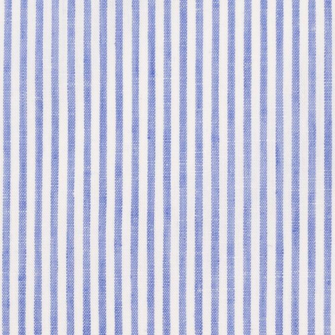 コットン&リネン×ストライプ(ブルー)×ローン イメージ1