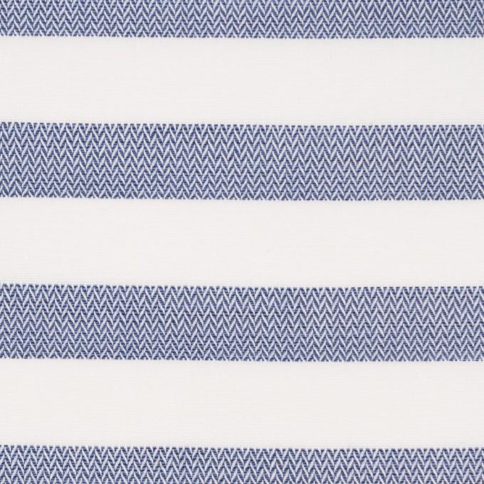 コットン×ボーダー(ネイビーブルー)×ブロード&ヘリンボーン イメージ1