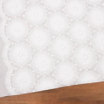 コットン×フラワー(ホワイト)×ローン刺繍_全3色 サムネイル2