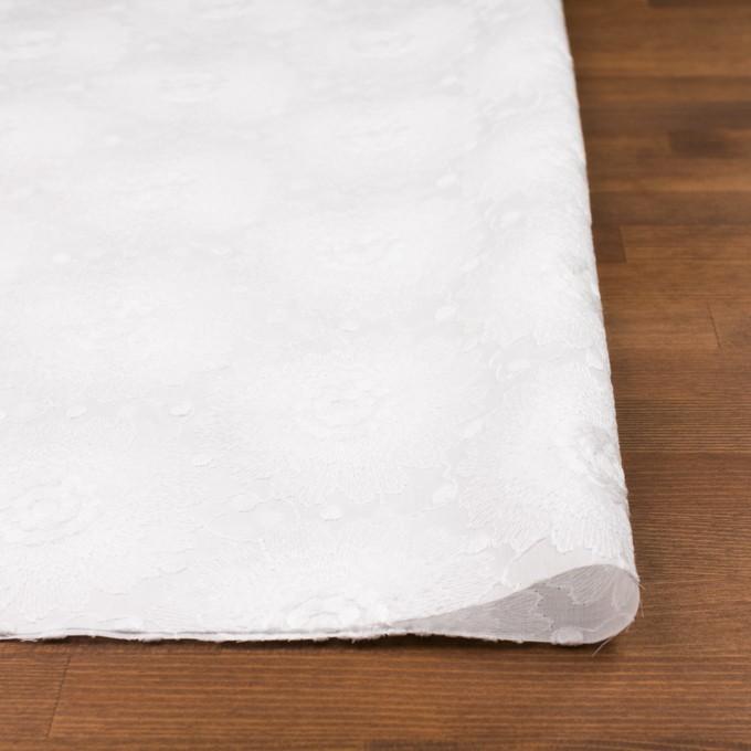 コットン×フラワー(ホワイト)×ローン刺繍_全3色 イメージ3