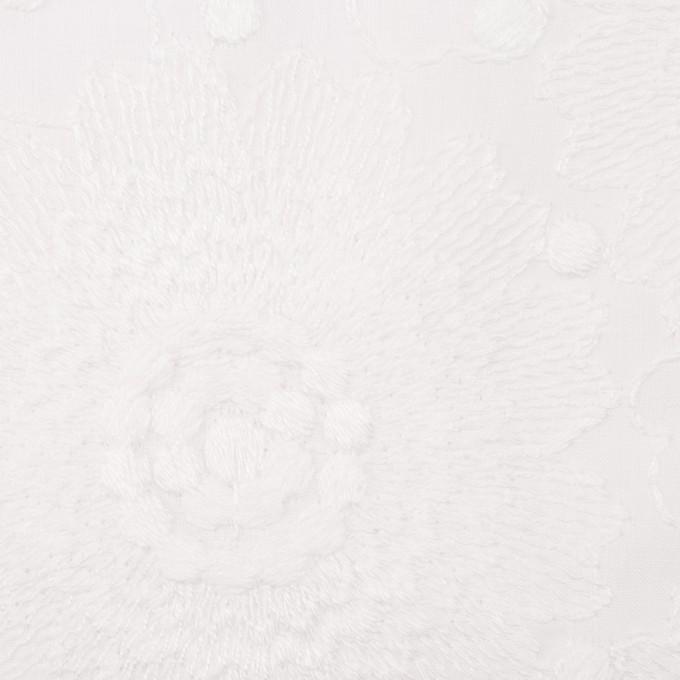 コットン×フラワー(ホワイト)×ローン刺繍_全3色 イメージ1