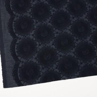 コットン×フラワー(ダークネイビー)×ローン刺繍_全3色 サムネイル2