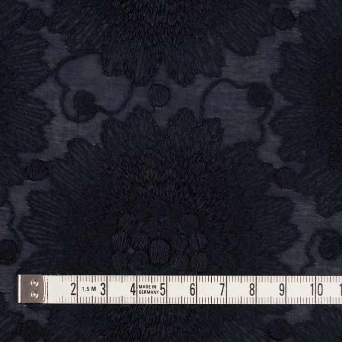 コットン×フラワー(ダークネイビー)×ローン刺繍_全3色 イメージ4